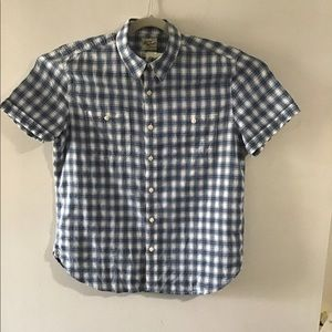 Lucky Brand blue plaid button up. Large